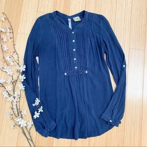 FREE PEOPLE blue star embellished blouse, XS/S.